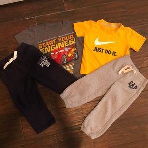 BOYS 3T SWEATPANTS T-SHIRTS LOT